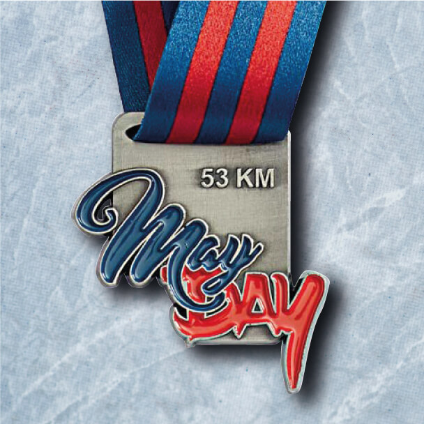 Médaille Métal Course à Pied - MayDay Finisher